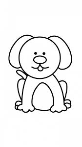 coloring pages attractive easy drawings of dogs learn to draw