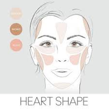 how to apply blush bronzer highlighter to a heart shaped face