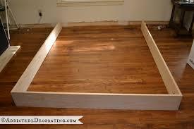 Raised Platform Bed Frame Diy Wood Bed Frame Diy Stained Wood Raised Platform Bed Frame Part