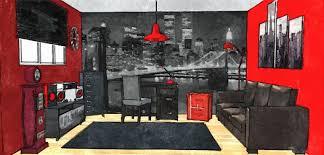 chambre ado stylé chambre adolescent style urbain bedroom croquis