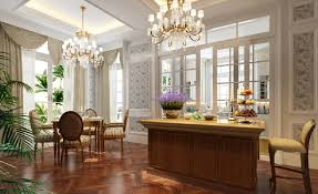 3d french villa dining room interior design 3d house