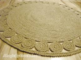 Pottery Barn Braided Rug by Round Natural Rug Roselawnlutheran