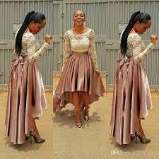 high low pink prom dress bella naija bridesmaid dresses 2017 lace