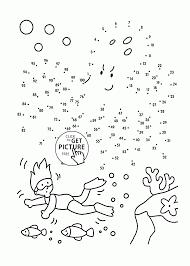 spongebob dot to jpg puzzles for kids printables medium level