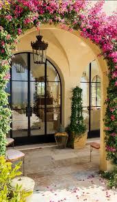 outdoor decor spanish garden decor idea with climbing plants and rustic outdoor
