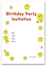 free printable birthday invitations and birthday invitation