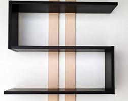 Wall Mounted Wooden Shelves by Geometric Wall Shelf Modern Floating Shelves Book Shelf