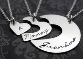 grandmother and granddaughter necklaces s jewelry personalized three generation necklace
