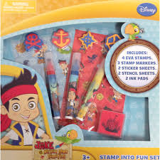childrens disney jake land pirates stamp kit
