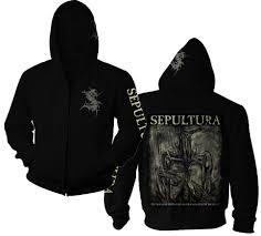 sepultura logo mediator zip hoodie nuclear blast usa store