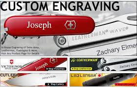 personalized swiss army knife custom engraving at swiss knife shop