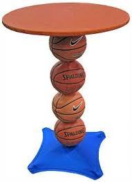 Table Basketball Basketball Highboy Table Athletic Inspired Decor Pinterest