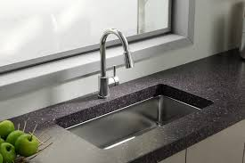 simple and neat design ideas using silver single hole faucets and