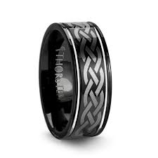 men s wedding band black tungsten wedding bands larson jewelers