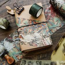 bureau scrapbooking vintage chose voyage carte décoratif washi bande diy scrapbooking