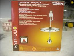 Pendant Lighting For Recessed Lights Crafty Imaginings Silly Things Who Knew Recessed Converts To