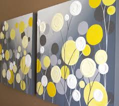 Yellow And Grey Home Decor Yellow And Grey Wall Art Small Home Decor Inspiration Amazing