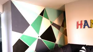 Diy Painting Walls Design Geometric Wall Paint Diy Youtube