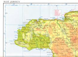Jamaica Map Collins Road Map Of Jamaica Mid 1950s Negril To Montego Bay