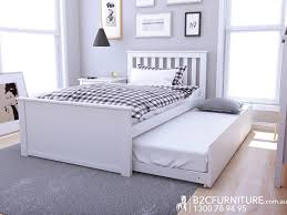 Bedroom Furniture Modern Melbourne Dandenong White King Single Trundle Bed Suites Kids Bed Sets