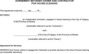 cleaning services contract template good roommate rental