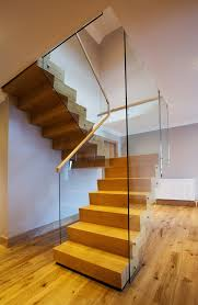 Contemporary Staircase Design Wooden Stairs Design Staircase Contemporary With Glass Balustrade