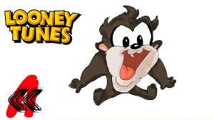 baby looney tunes taz the tasmanian devil draw 2 kids youtube
