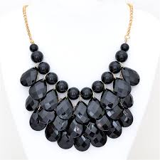 black drop necklace images Black teardrop bib necklace by shamelessly sparkly jpg