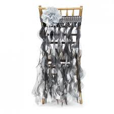 curly willow chair sash willow chair sash black silver