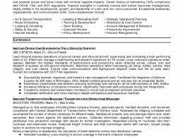 senior logistic management resume logistics manager resume example