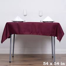 tablecloth for 54x54 table 54 x 54 burgundy wholesale seamless polyester square tablecloth