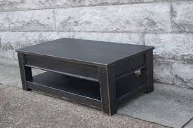 distressed black end table hand crafted distressed black coffee table by will power custom