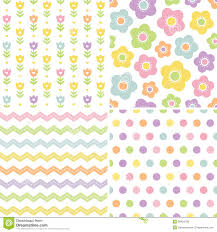 pretty wrapping paper seamless pink and yellow background patterns stock vector