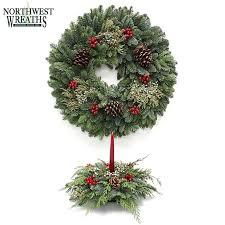 buy northwest wreaths fresh live evergreen 24 wreath oval