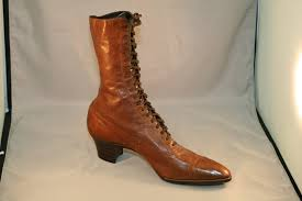 ladies lace up biker boots 1910s women u0027s shoes u2013 and before the online baltimore shoeseum