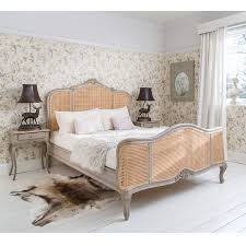 Colonial Style Bedroom Furniture Uk Only Normandy Rattan Painted Luxury French Bed King French Bed