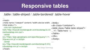 Bootstrap Table Class Bootstrap Framework