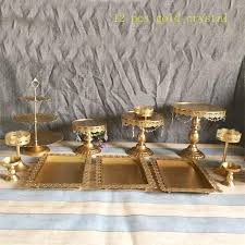 gold cake stands 2018 white gold cake stand wedding cupcake stand set