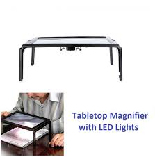 table top magnifying light tabletop magnifying glass with led light page sized magnifier