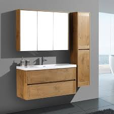 wooden bathroom cabinet with modern european style benevola