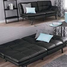 Leather Futon Sofa Mainstays Futon Ebay