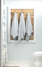 Bathroom Towel Hanging Ideas Bath Towel Racks Framed Pallet Board Towel Holder Bath Towel