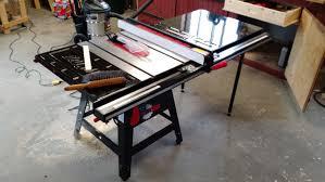 Folding Table Saw Stand Bosch Portable Table Saw Youtube Hitachi C10rj Make A Table Saw