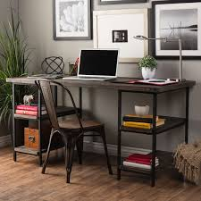 Metal Office Desk Carbon Loft Renate Reclaimed Wood And Metal Office Desk Free