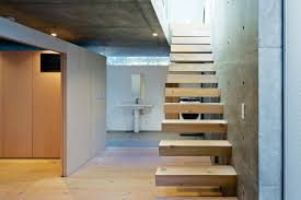 first floor in spanish open plan concrete home in japan dwell staircase a1 0 lower level