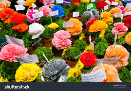 The Month Of June Flower - popular saints festival lisbon portugal traditional stock photo