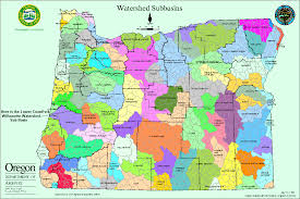 Lakeview Oregon Map by Oregon Watersheds The Link Actually Goes To The Larger Version Of