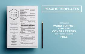 Word Resume Examples by Resume Templates On Behance
