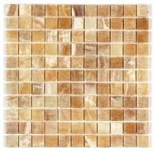 12 x12 honey onyx polished premium bathroom and kitchen mosaic