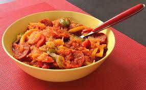 cuisiner la courge spaghetti courge spaghetti au chorizo ma cuisine santé